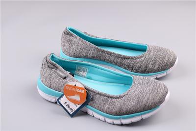 外贸女一脚套休闲鞋 浅口记忆棉鞋垫女夏季轻便徒步鞋原单