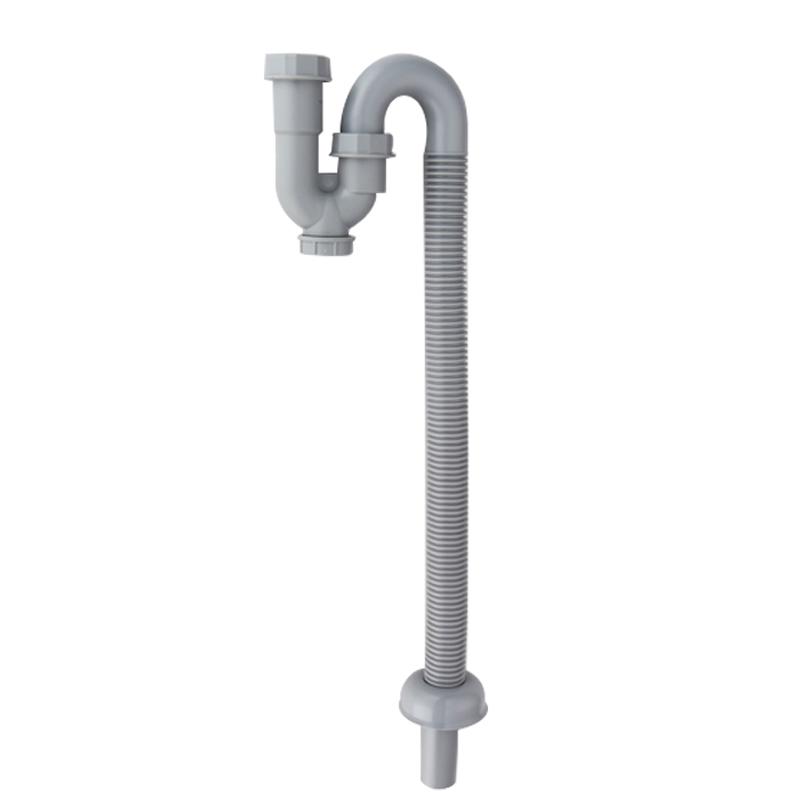 Una ranura de desagüe de la pileta de lavar los platos de cocina de acero inoxidable el desodorante v300 s flexible manguera de seda