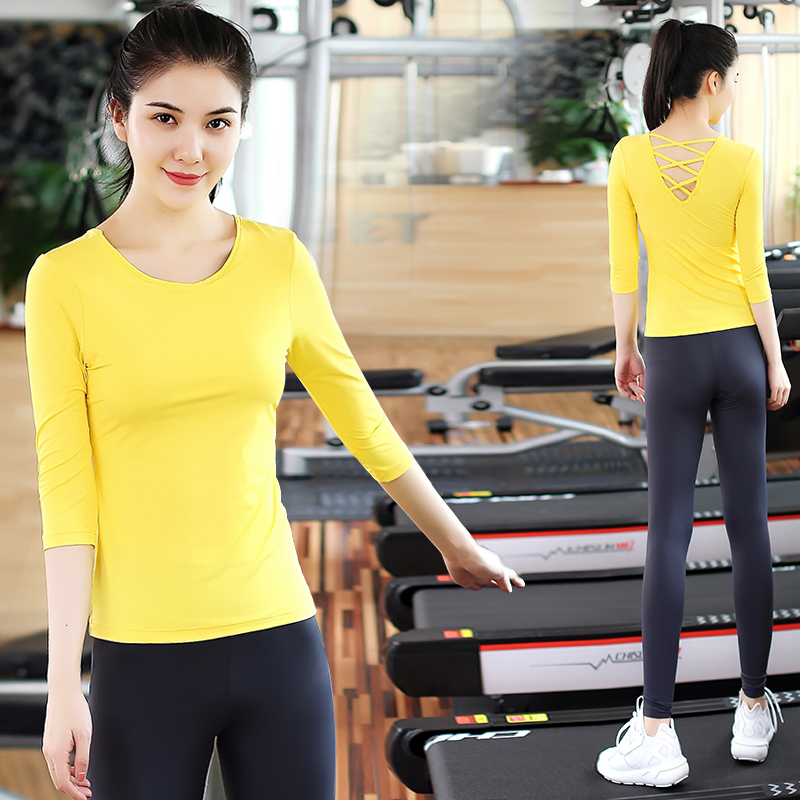 Pu Ti Yoga suits female winter fast dry gym tunic Tiaocao running pants Slimming yoga clothes