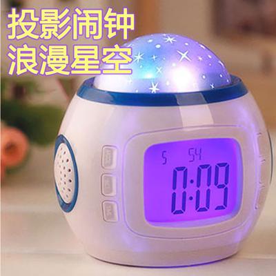 投影闹钟学生床头个性静音电子闹钟创意夜光懒人多功能儿童小闹钟