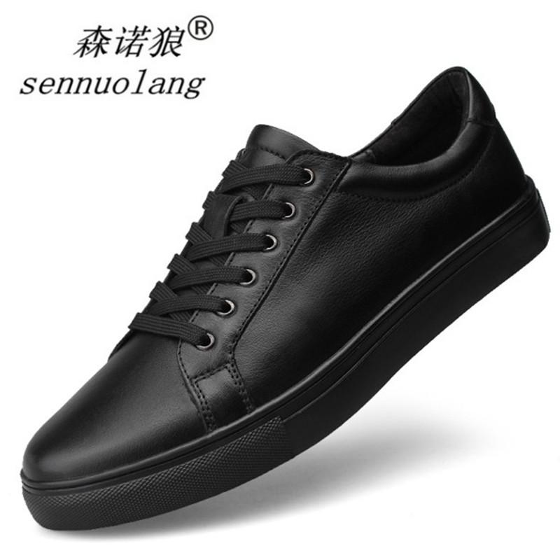 秋鼕黑色青年板鞋男士