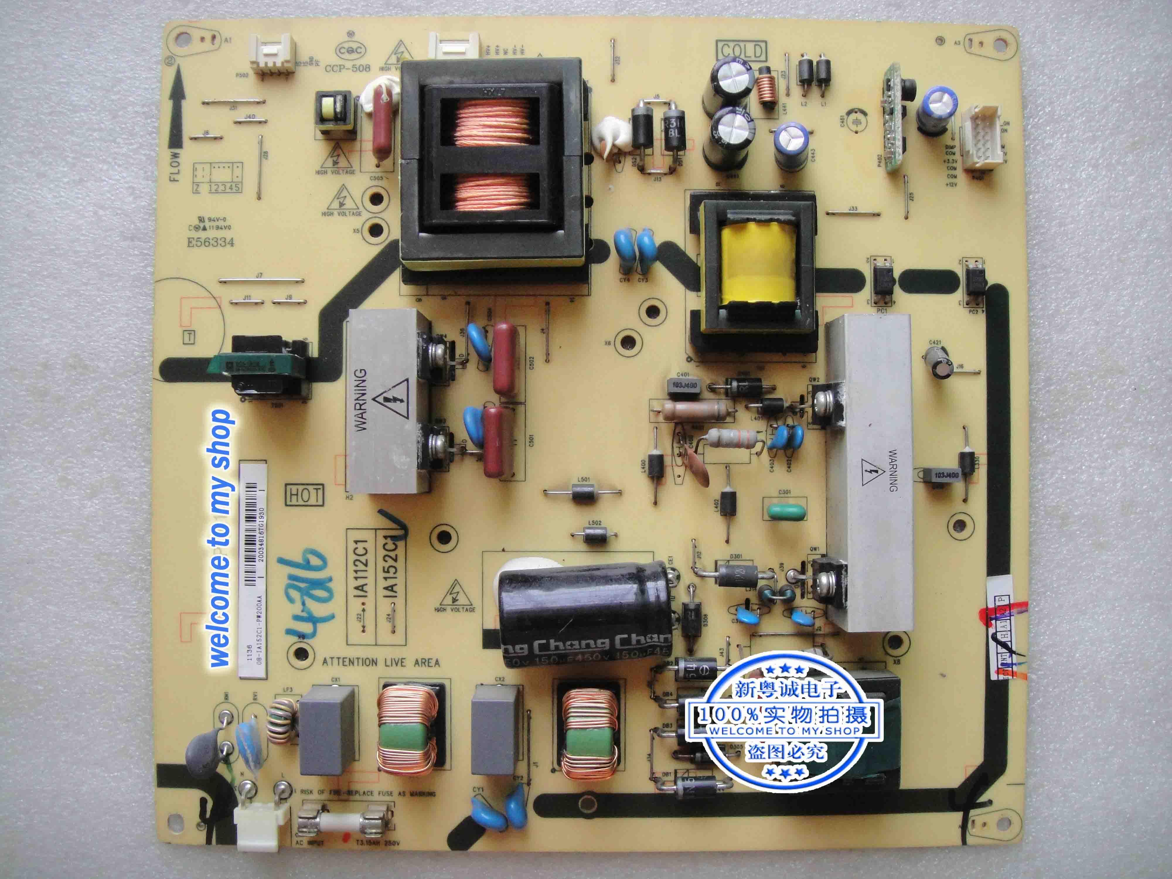 TCLL40P60FBD original TV LCD Placa de potência de 40 PWE1XG A112C1 um painel