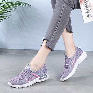 夏季老北京布鞋女网鞋妈妈鞋中老年人运动网眼软底透气防滑健步鞋