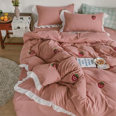 韩式公主风四件套水洗棉 少女心床单被套床笠单
