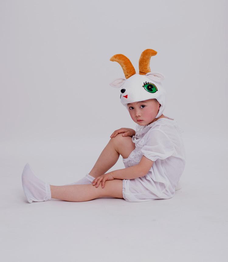 山羊90cm(90cm(需要訂做))六一節兒童成人動物表演演出服裝幼稚園山羊舞臺舞蹈服造型服