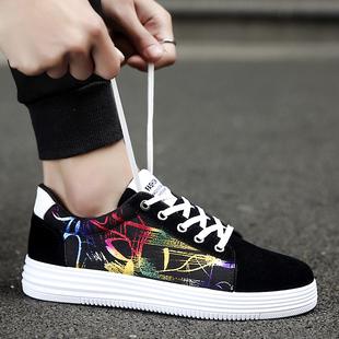 春季儿童运动学生帆布鞋花布鞋时尚大童男童男孩鞋子透气板鞋单鞋