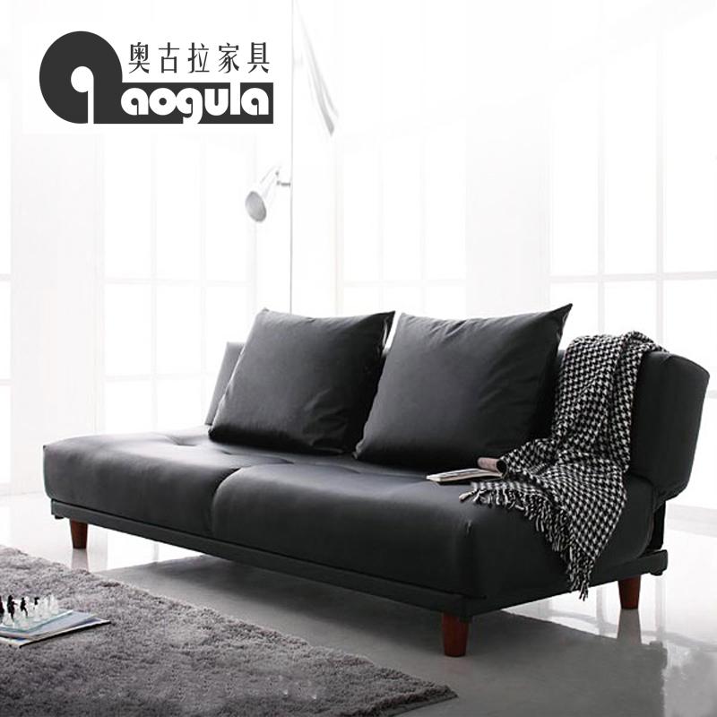 奥古拉 γιαπωνέζικο στυλ απλό τρόπο, μικρό διαμέρισμα καναπέ - κρεβάτι πτυσσόμενο καναπέ - κρεβάτι διπλά δερμάτινος καναπές κρεβάτι