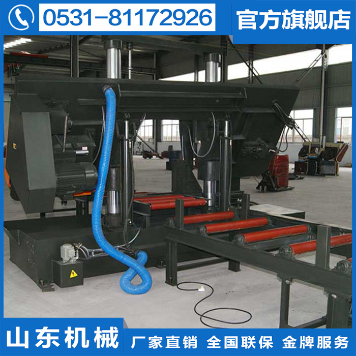 New listing GZ4270 large double column hydraulic metal band sawing machine factory special material machine hacksaw blades