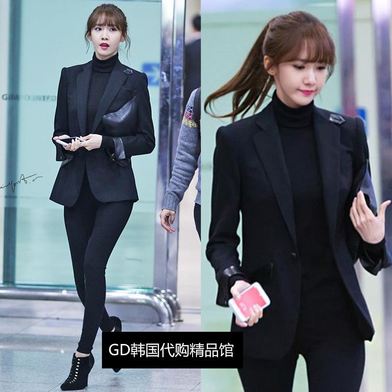 林允儿同款西装外套女修身显瘦春秋通勤韩版上衣长袖职业小西服潮