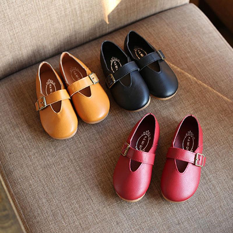 春夏秋款韩版童鞋女童单鞋奶奶鞋复古皮鞋平底豆豆鞋宝宝鞋子