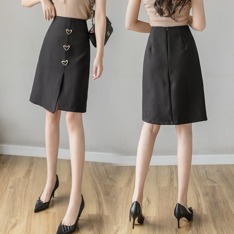 实拍 不规则半身裙2020春夏大码修身高腰包臀裙中长款a字裙一步裙