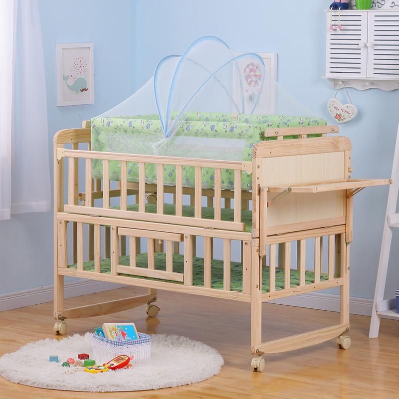 кровать для младенца, Новой Зеландии, импорт древесины, колыбель вв двутавровых параллельно маленький ребенок кровати Кровать колыбель колыбель отправить москитную сетку