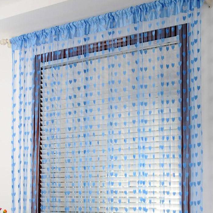 製品の愛の糸は、カーテン3メートルの韓式のカーテンを装飾する、カーテンルーム、簾の部屋