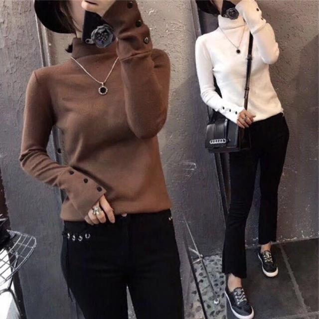 欧洲站秋装女2017新款欧货时尚高领打底衫女修身百搭长袖T恤潮