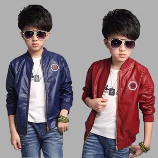 男孩童装夹克外套2017新款韩版秋冬装男童皮衣中大童加绒加厚上衣