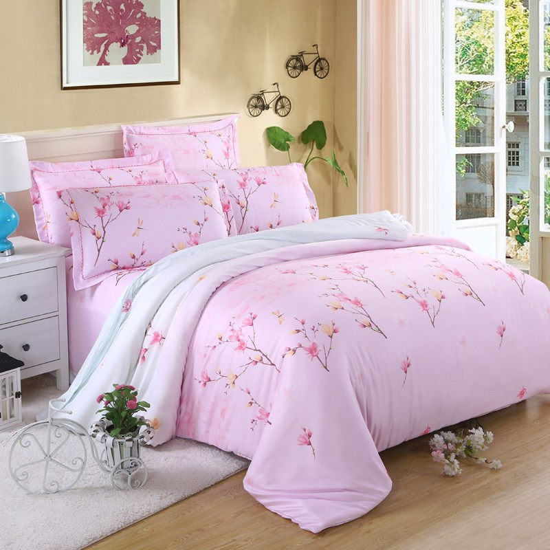 The spring and summer of four sets of fresh naked Tencel bedding wedding bedding bedding double 1.8/2.0m