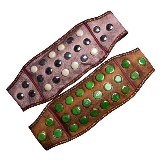 Natuurlijke jade 'elektrische verwarming magnetische buikriem bescherming van de opwarming van de aarde middel van mannen en vrouwen, de lumbale wervel.