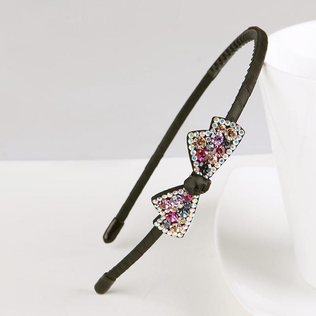 韓国の新型カチューシャ結水ドリル箍圧発ヘアピンを持って細いスリップ歯鉄分の調節の髪飾りながら