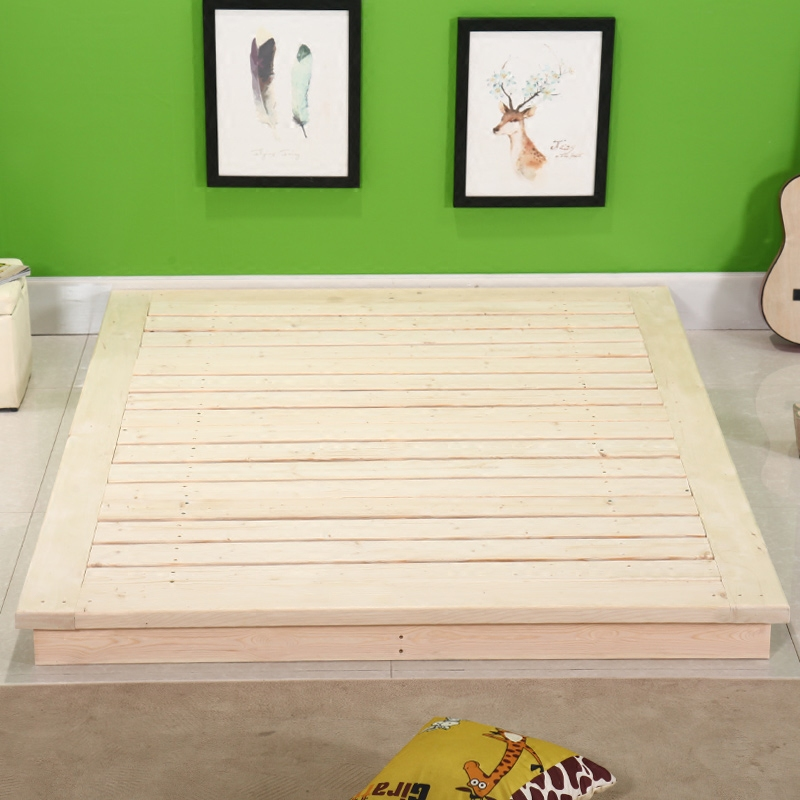 Solid wood bed couch bed platform special offer meters Banchuang hard bed board can receive the pine wood bed