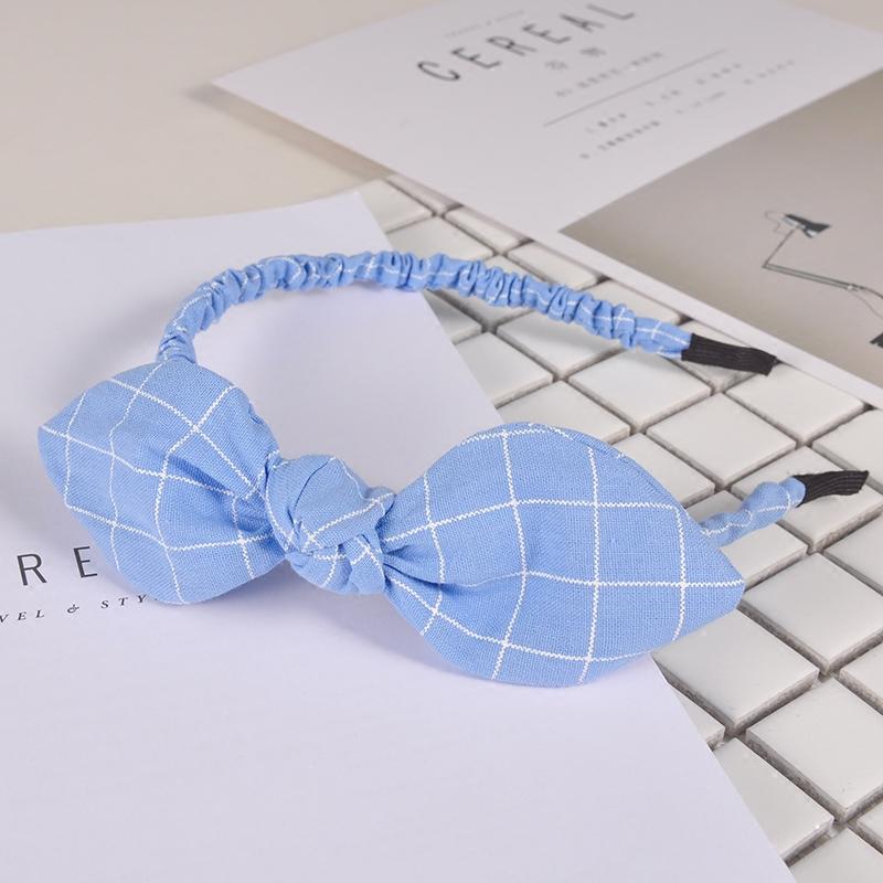 オヤジの当主蒋欣权薇同型カチューシャ韓国可愛らしいリボン簡明な布耳兎頭箍