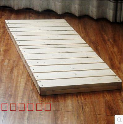 The hard bed tatami bed baby bed hard widening loose single double folding bed frame lunch ribs