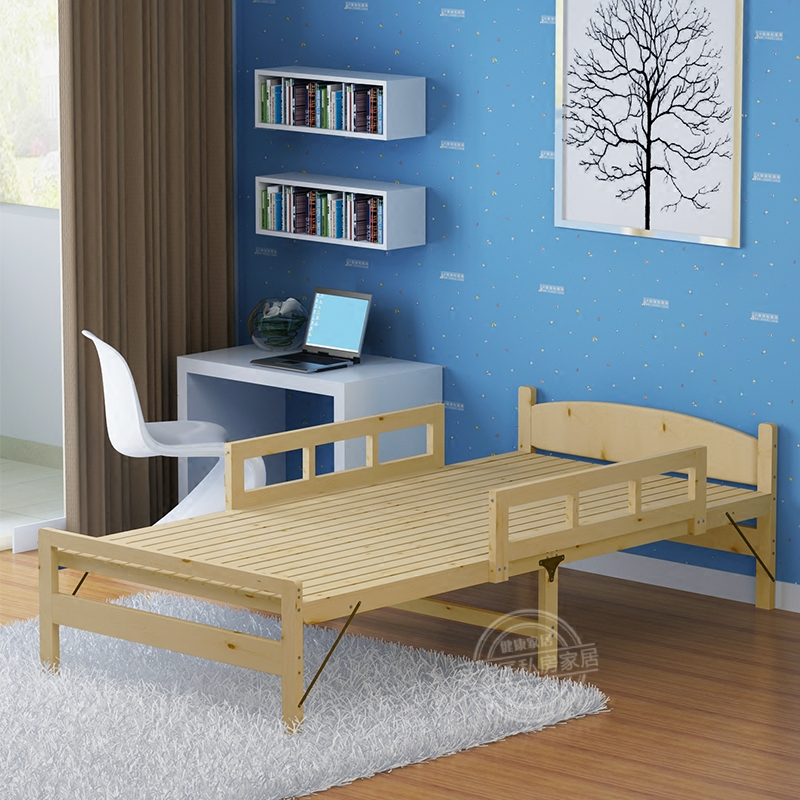 Children's bed, wooden folding bed, girl's princess bed, boy's double bed, pine baby bed