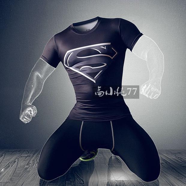 Fitness - Uniform und atmungsaktive Sommer asche männlichen Stretch - strumpfhosen kurzarm - T - shirts Schnell trocken pro fitness - Jacke