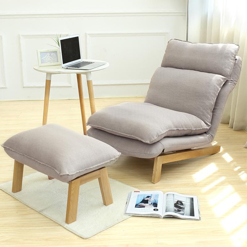 ρυθμιζόμενα ερεισίνωτα γιαπωνέζικο ο καναπές Nordic μονό καναπέ σαλόνι ύφασμα ξαπλώστρα αποσπώμενα καναπέ - κρεβάτι.