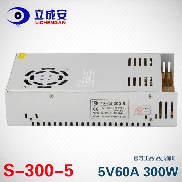 5v60a διακόπτη ισχύος 5V300W λέξη αφίσες μετασχηματιστή οδήγησε έγχρωμη ηλεκτρονική οθόνη ρεύματος
