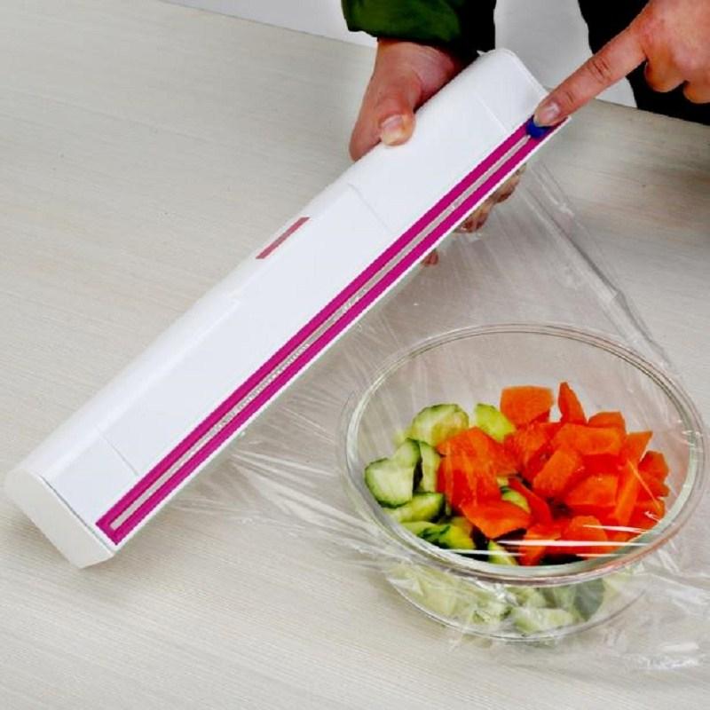 ฟิล์มพลาสติกห่อกล่องเครื่องตัดใบมีดสแตนเลสสามารถปรับขนาดการสร้างสรรค์คู่ 40 เมตรฟิล์ม