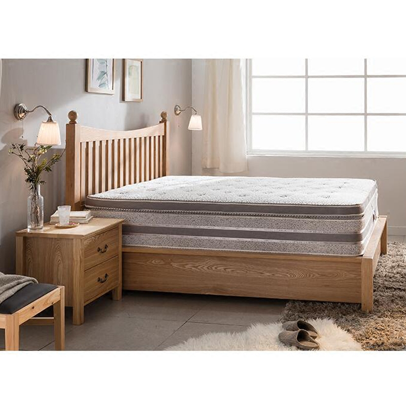 Nordic solid wood bed simple modern new Chinese oak bed, high box storage drawer, pressure bed 1.8 meters double bed