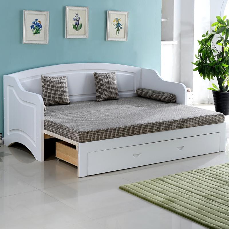 木造ソファベッド1 . 2メートルの1 . 5メートルツイラ多機能の併用収納伸縮ベッドペア折りたたみベッド引くブローチ盤