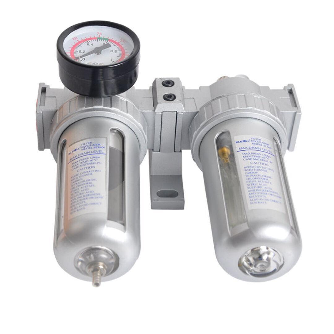 Pneumatic duplex vi xử lý điều chỉnh van áp lực mang thiết bị lọc dầu sương mù - type