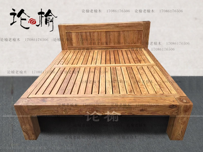 Elm bed houten bed 1,8 meter dubbel slaapkamer oude houten bed elm meubelen Chinese.