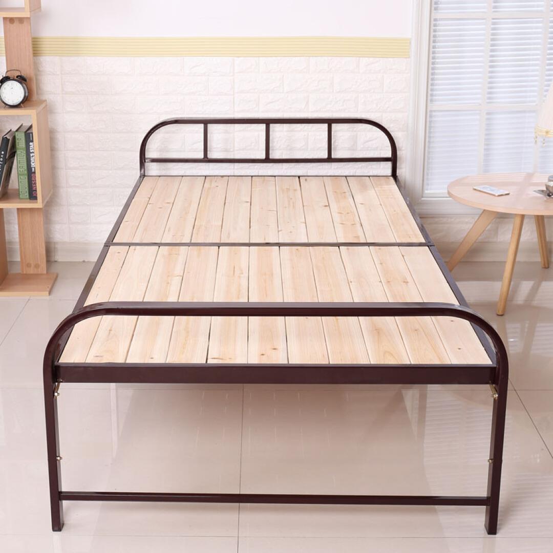 El rastro de la Oficina Federal de la cama de sábanas de 1 metro plegable de madera que una simple cama cama doble de madera, acero y madera