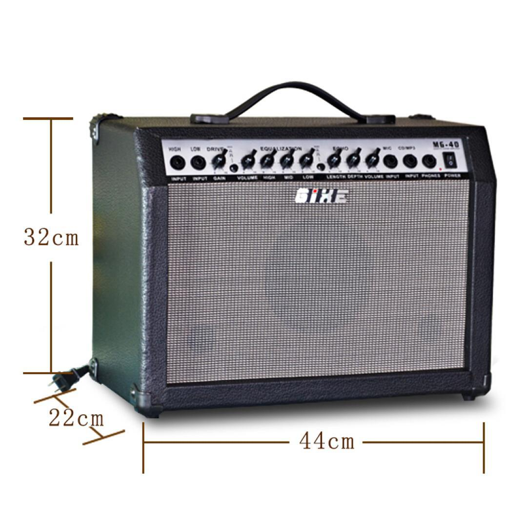 Cauchy GIXE electric guitar 40 Watt portable and folk guitar band rehearsal performance function