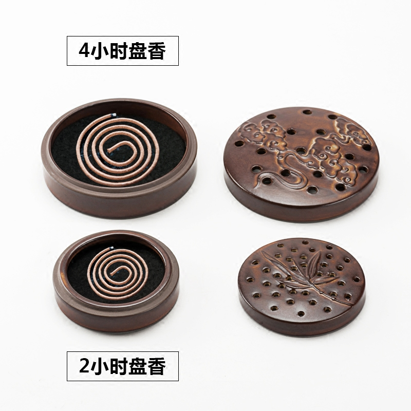 старинные китайские циркулярное поле кадило 2h4h грубой глиняной печи портативный диск кадило кадильницу Ароматерапия творческие нюансы печь
