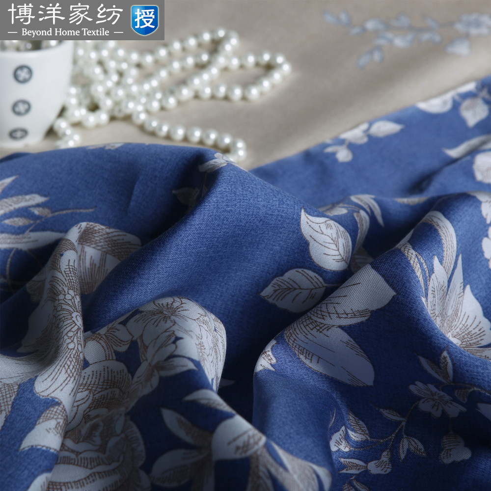 Four sets of double sheets of Tencel textiles 1.5 meters Yiyuan style 2017 new 1.8m special offer free shipping