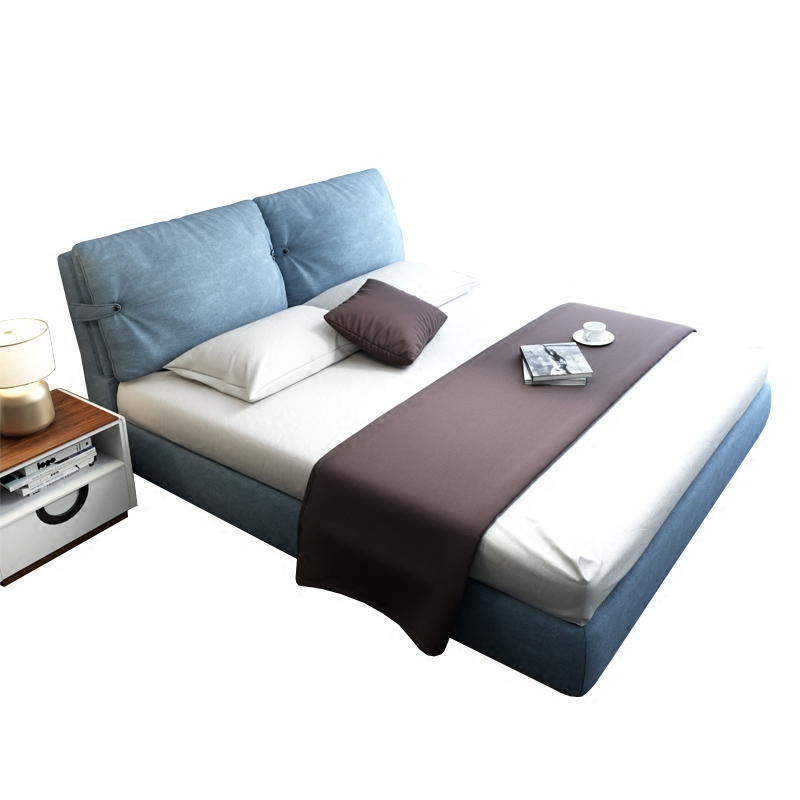Rouen bed solid wood frame bed, double bed, cloth art bed, storage box, cloth bed