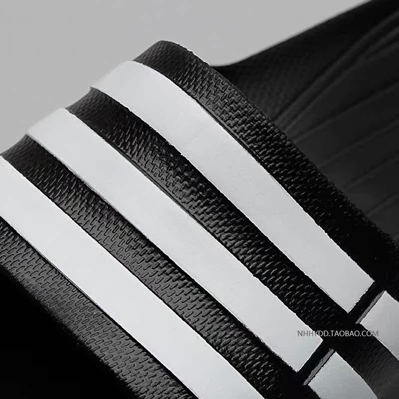 Adidas drei streifen von rindern dann Schwarz - weiß gestreiften Oreo - trend - sport - badehaus pantoffeln G15890