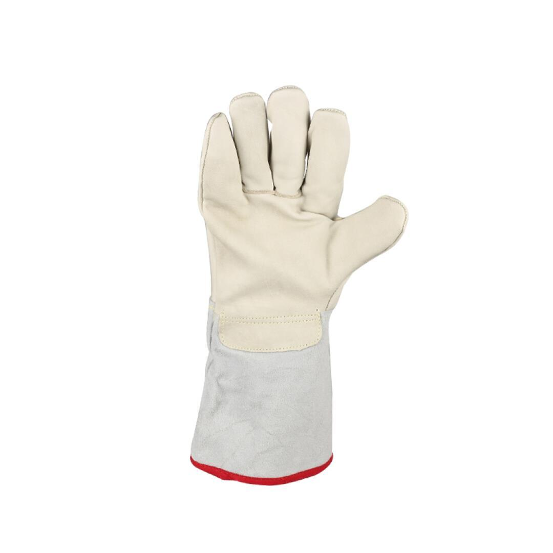 Thickened type leather waterproof antifreezing warm gloves cold laboratory freezer