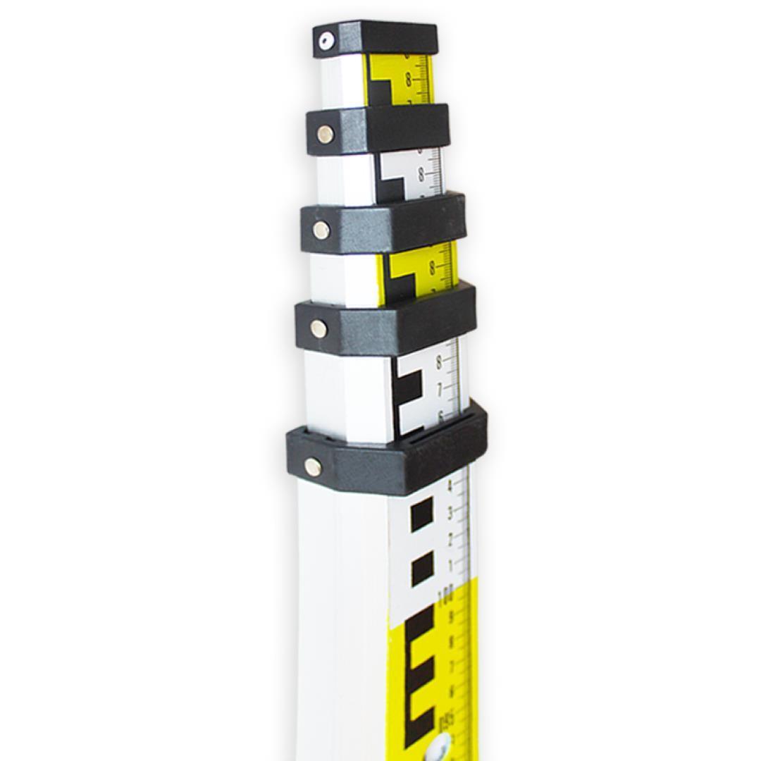 เครื่องมือวัดระดับเครื่องมือวัดระดับเครื่องมือวัด / กลางแจ้ง / ยีหอเท้า 5m อลูมิเนียมไม้วัดระดับแบบสองหน้าวัด