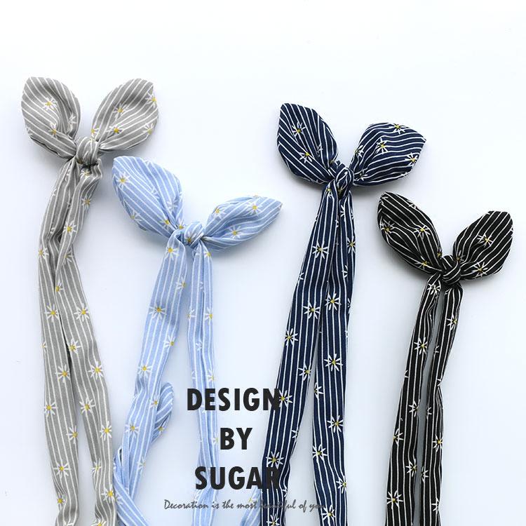 Japanese Cotton Striped rabbit ear wire hoop headdress cute Korean hair band stereo ear hair clips