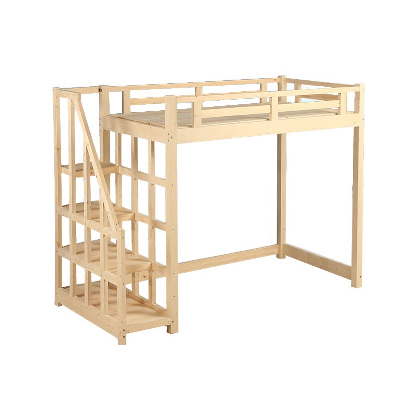 Solid wood child bed, girl princess, desk, pine double, upper and lower beds, adult children's elevated bed