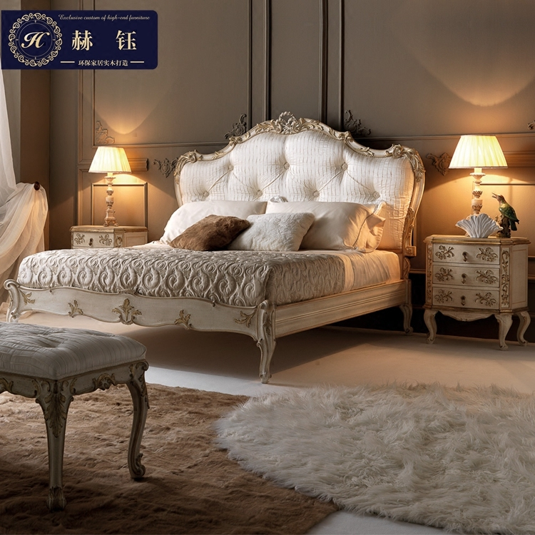 European style Neo Classical Luxury Bed Bed carved bed Jane princess bed double bed French American light luxury wedding bed