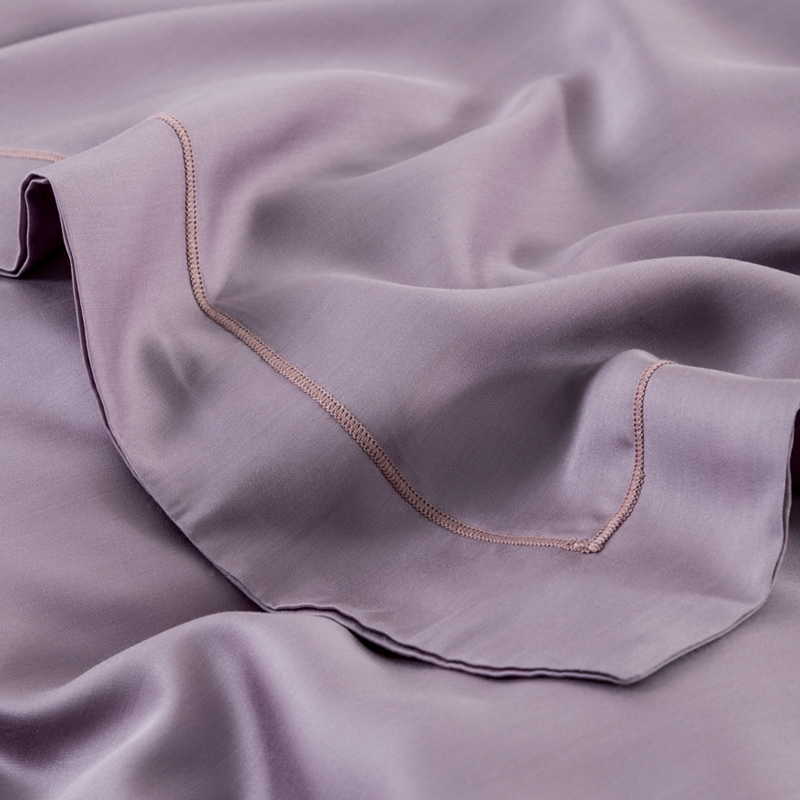 American minimalist silk 60 pure Tencel plain Satin four sets of high-grade 1.8m bedding in spring and summer