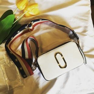 明星同款包包2017新款女包撞色相机包单肩包斜挎小方包宽带包包潮