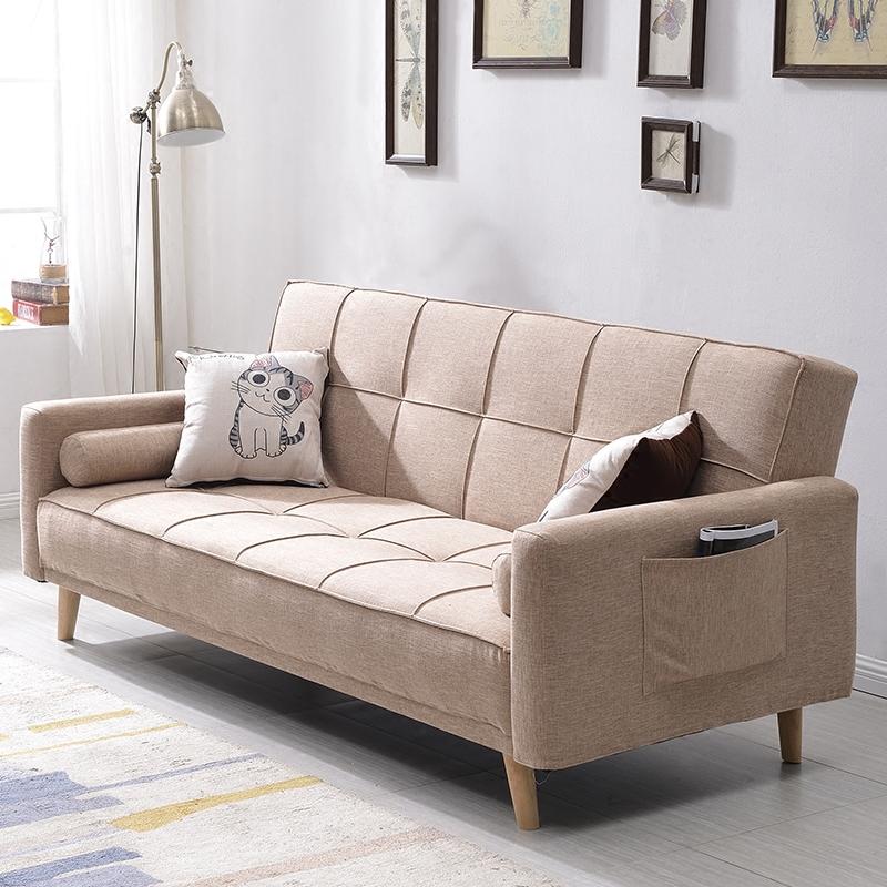 ソファーベッド折りたたみリビングペア多機能の併用3人に1 . 8メートルの布の小さな間取りが洗い張り北欧