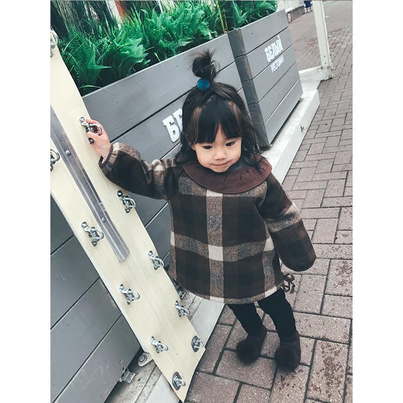 ten hrášek dívčí plus sametové šaty zimu dítě cho je 2017 nový děti - plísní a šaty princezny.