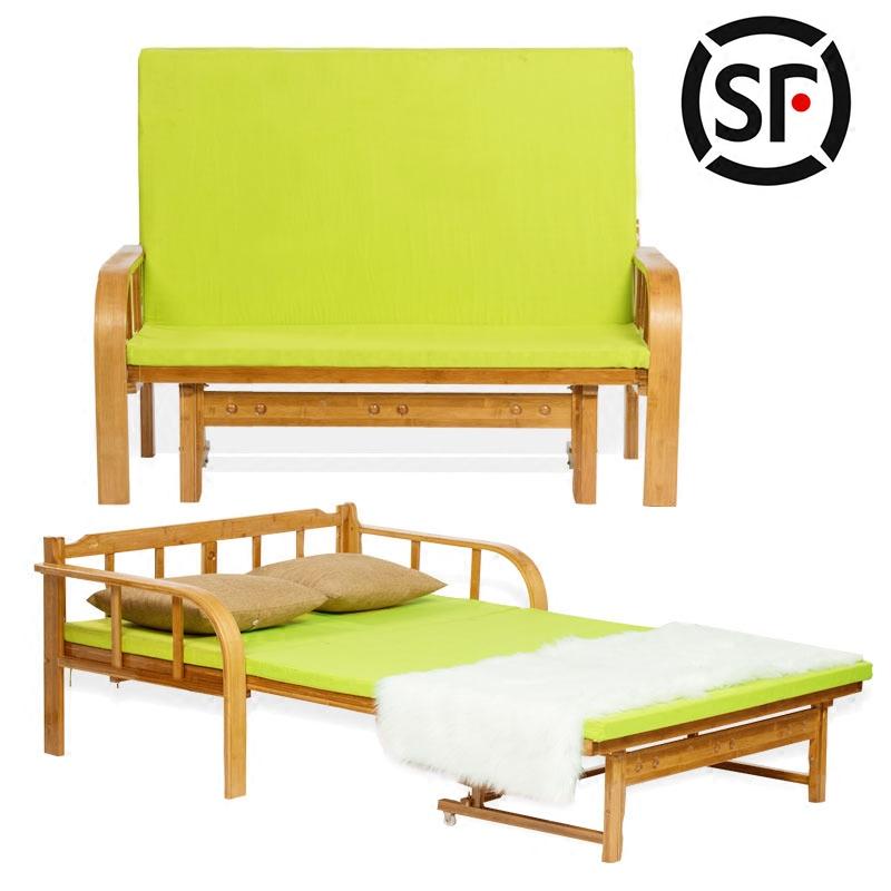 Einfache falt - Bett doppelzimmer begleitenden schwer tragbaren mittags - bambus - Bett Paket post - sofa Bett